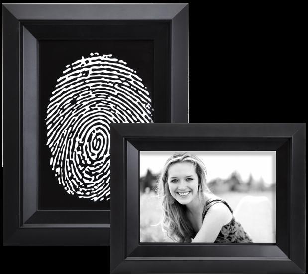 Custom Funeral Photo or Fingerprint Art Print | Memorial Gallery