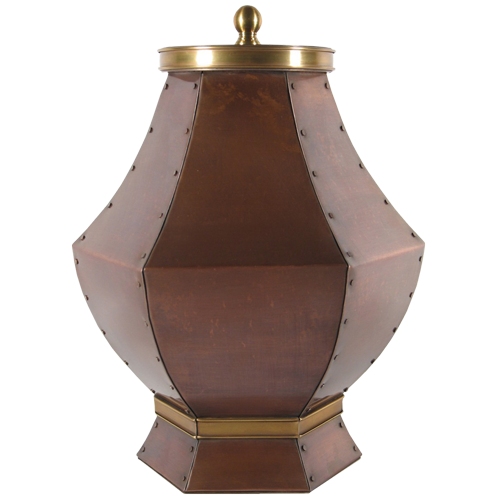 Yours Eternally Copper Cremation Urn