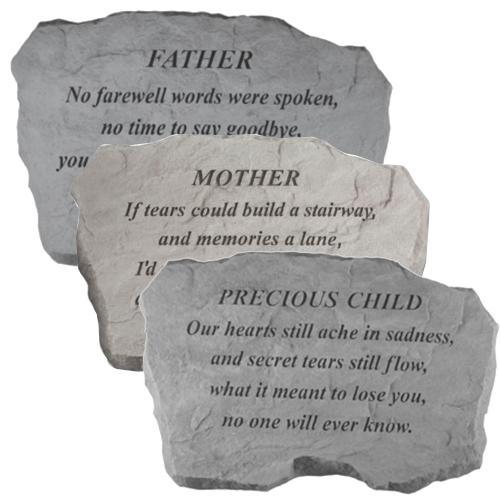 engraved family memorial stone