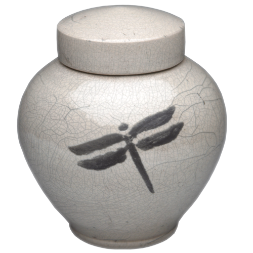 Dragonfly Clay Urn Pottery For Cremains Memorial Gallery