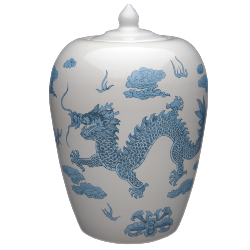 Chinese Dragon Porcelain Urn Container For Ashes Memorial Gallery