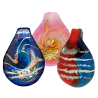 Glass Art Cremation Jewelry Pendant