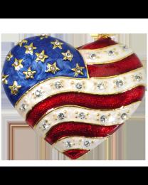 Patriotic Heart Cremation Keepsake