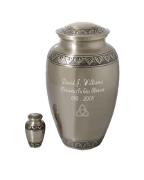 Tranquil Forest Pewter Cremation Urn