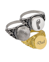 Personalized Round Cremation Ring