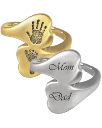Personalized Companion Heart Ring