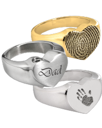 Personalized Bold Heart Ring