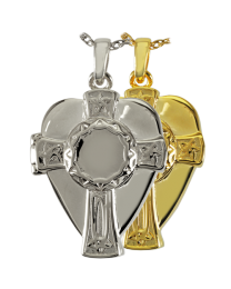 Celtic Warrior Cross and Shield Locket