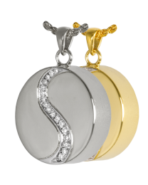 Yin Yang With Crystals Pendant