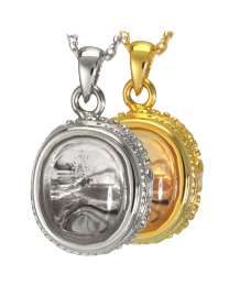 Glass Oval Cremation Pendant