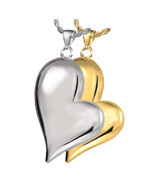 Teardrop Heart Cremation Pendant