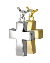 Vaulted Cross Cremation Necklace
