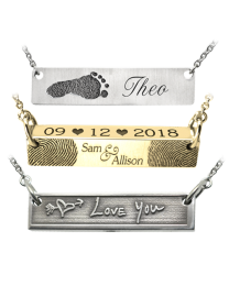 personalized tear drop heart