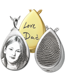 Personalized Teardrop Pendant