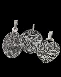 Thin Stainless Steel Fingerprint Pendant
