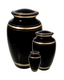 Black with Gold Cremation Urn