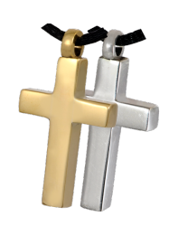 Brass Cross Cremation Pendant
