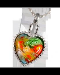 Art Glass I Stainless Steel Heart