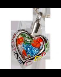 Stainless Steel Art Glass Heart II