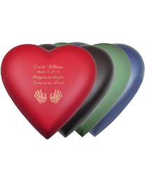 Customizable Brass Heart Urn