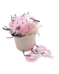 Bucket of Love Plantable Flower Hearts with Personalized Tag