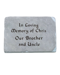 Colorful Flagstone Remembrance Rock