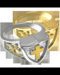 Cross Shield Ring