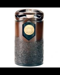 Cast Resin Cultured Wood Finish Urn