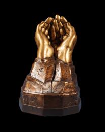 Cast Resin Cold Cast Bronze Finish Urn: a Friend
