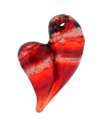 Hand-blown Glass Heart Ash Pendant