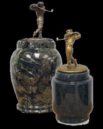 Marble Golfer Cremation Urn