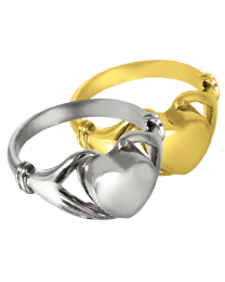 Heart Ring Cremation Jewelry