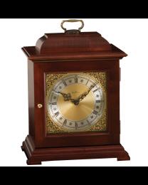 vertical free-standing red-brown wood clock urn