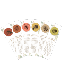 Plantable Hobby Themed Memorial Bookmarks
