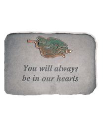 """You Will Always..."" Trumpet Angel Garden Memorial Stone"