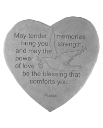 """May Tender Memories..."" Garden Memorial Stone"