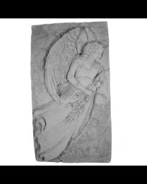 Standing Angel Garden Stone Plaque