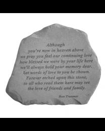 """""""Although You're Now..."""" Garden Memorial Stone"""