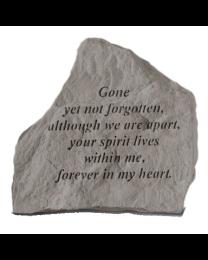 """""""Gone Yet Not..."""" Garden Memorial Stone"""