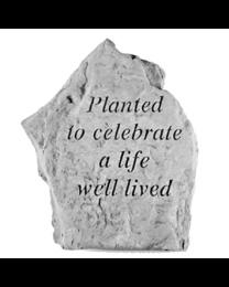 """Planted To Celebrate..."" Garden Memorial Stone"