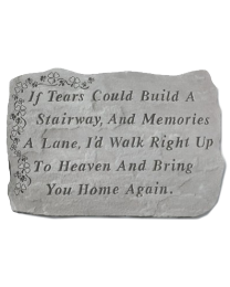 """If Tears Could..."" Shamrock Garden Stone"