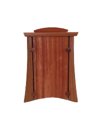 Bubinga Vertical Wood Urn with Keepsake Compartment