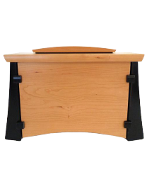 Cherry & Wenge Wood Horizontal Urn with Keepsake Compartment