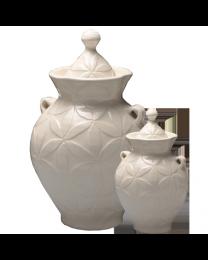 White Petals Artisan Urn