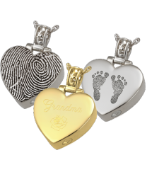 Sample of peaceful heart pendant with custom decoration