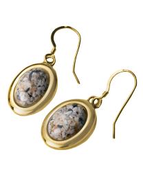 Sentimental Connections Cremation Oval Earrings