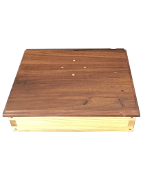 cherry wood memory box for two