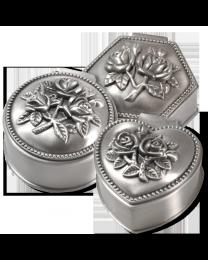Pewter Roses Keepsake Jewelry Box