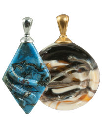 Glass Helix and Rhombic Pendant