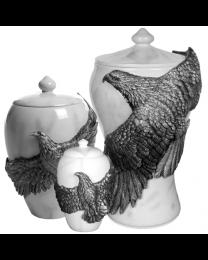 Eagle's Flight Pewter Urn